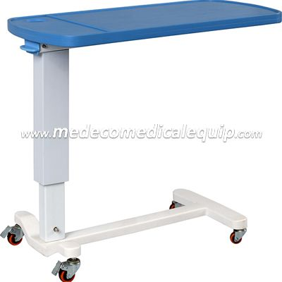 Height Adjustable Overbed Table With Wheels MEH046-2 (O)