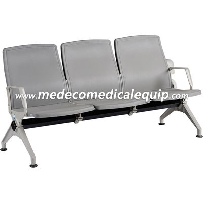PVC Plastic 3-Seater Waiting Chair MEE006-1