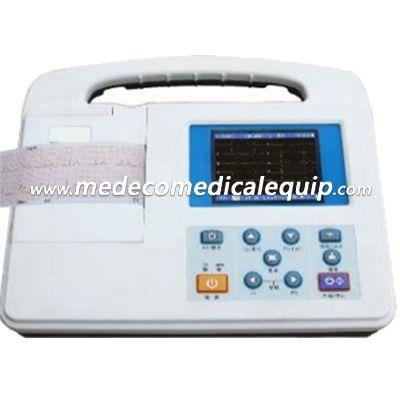 Hospital Portable 1 Channel ECG Machine 3.5 Digital Electrocardiograph ME2301G