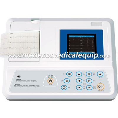 Clinic Medical 3channel Record 3.5 Inch Color LCD Electrocardiograph ME3303B