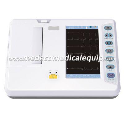 Medical Portable Digital Electrocardiograph 6 Channel ECG Machine ME3306G