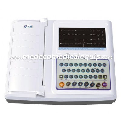 7 Inch Portable Digital ECG Machine 12 Channel Record Top Sell Electrocardiograph ME3312G