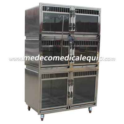 MEDECO Veterinary Stainless steel pet display (foster, hospitalization) cage MEzs02