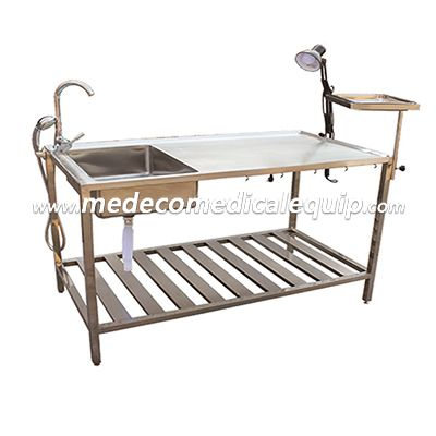 Veterinary Hospital Stainless steel animal dissection table MEJ01