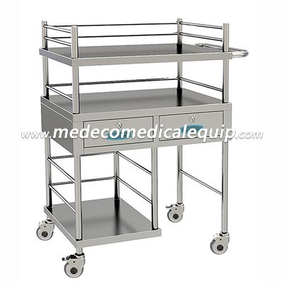 Stainless Steel Anesthesia Treatment Trolley ME028