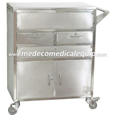 Stainless Steel Simple Metal Treatment Medical Trolley ME021